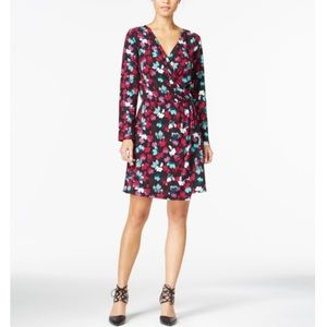 Bar III multicolor wrap dress